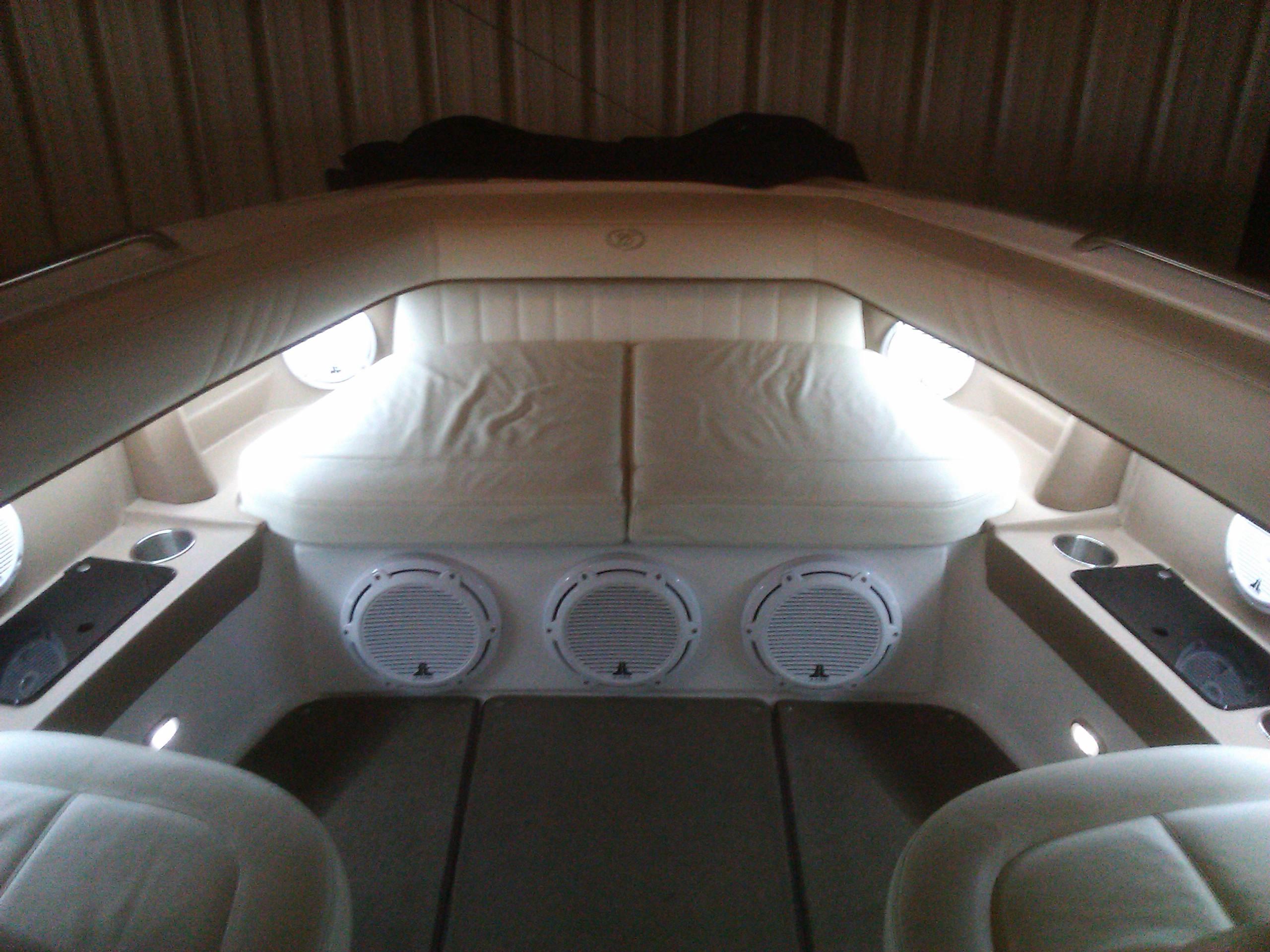 2007 Cobalt 302 JL Audio Subwoofers Custom Mounted Speakers Volume Knobs