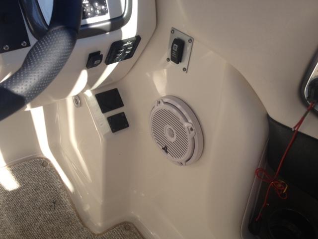 2012 Chaparral 284 Sunesta JL Audio marine speakers subwoofer powered volume control knob ARC Audio 5ch. amplifier custom plate
