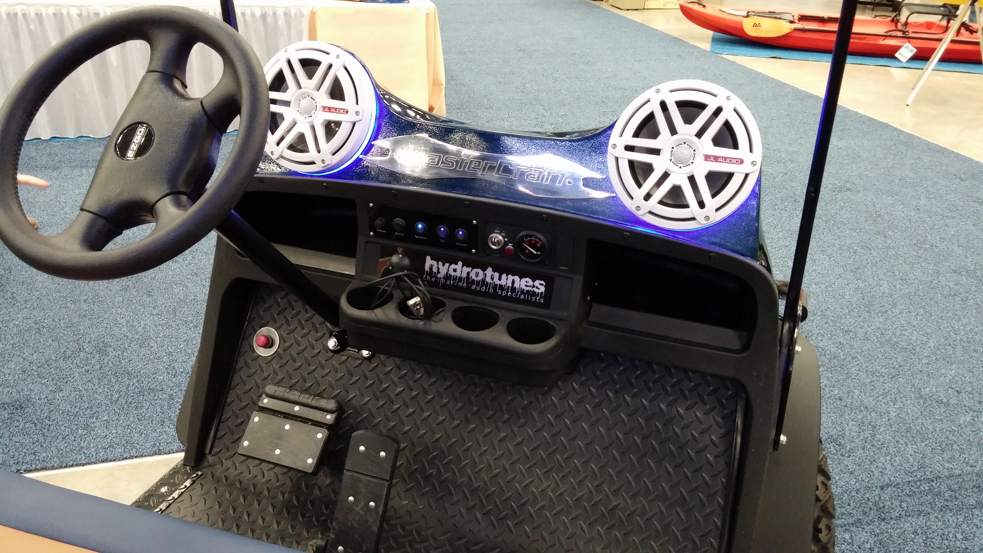 2014 EZGO S4 Golf Car - Hydrotunes Mastercraft X30 Inspired ... Golf Cart Speaker Location on golf cart remote control, golf cart wiring, golf cart material, golf cart width, golf cart color,