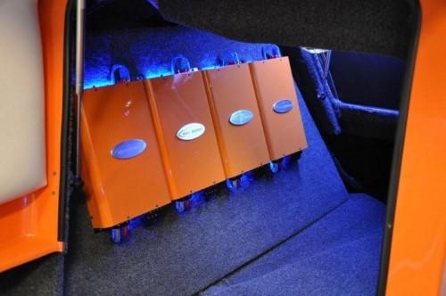 Custom Painted Arc Audio KS series amplifiers
